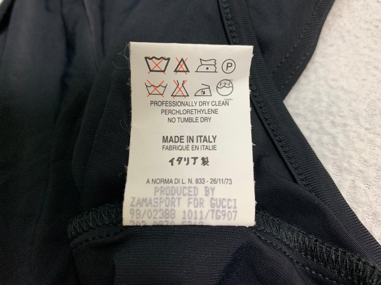 1998 Gucci Tom Ford Sheer Black Plunging Halter Bodysuit Swimsuit For Sale 2