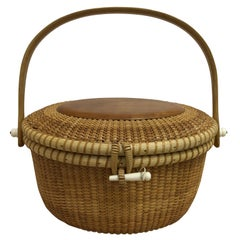 1998 John Keane Signed Nantucket Basket/Purse in As New Condition