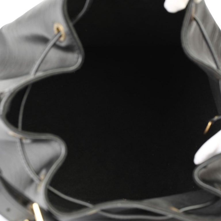 1998 Louis Vuitton Black Epi Leather Vintage Petit Noé For Sale 6