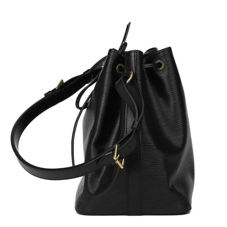Women's or Men's 1998 Louis Vuitton Black Epi Leather Vintage Petit Noé For Sale