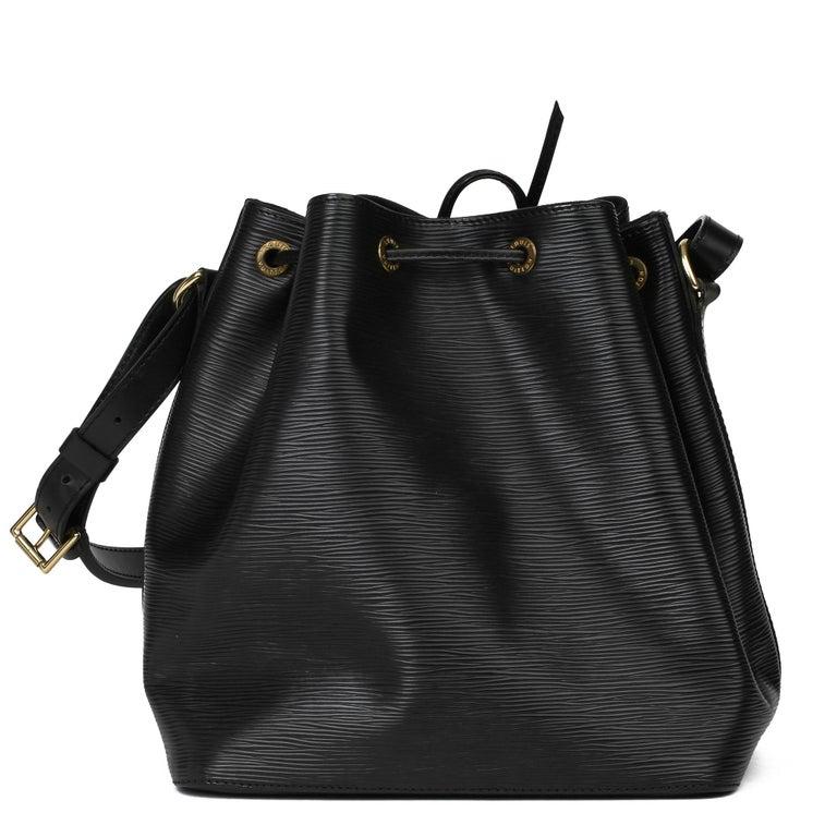 1998 Louis Vuitton Black Epi Leather Vintage Petit Noé For Sale 1