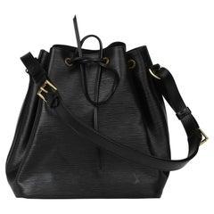 1998 Louis Vuitton Black Epi Leather Vintage Petit Noé