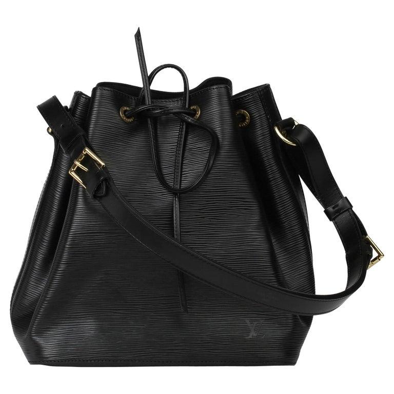 1998 Louis Vuitton Black Epi Leather Vintage Petit Noé For Sale