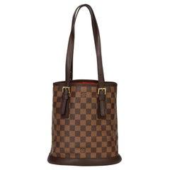 1998 Louis Vuitton Brown Damier Ebene Coated Canvas Vintage Bucket Bag