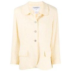 1998s Chanel Light Yellow Jacket