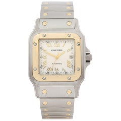 1999 Cartier Santos Galbee Steel and Yellow Gold W20041C4 Wristwatch
