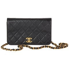 1999 Chanel Black Lambskin Vintage Mini Flap Bag