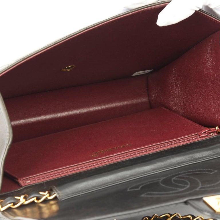 1999 Chanel Black Quilted Lambskin Vintage Medium Classic Single Flap Bag  7