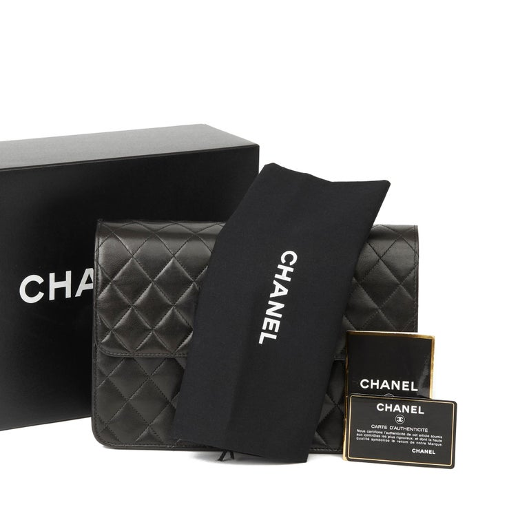 1999 Chanel Black Quilted Lambskin Vintage Medium Classic Single Flap Bag  8