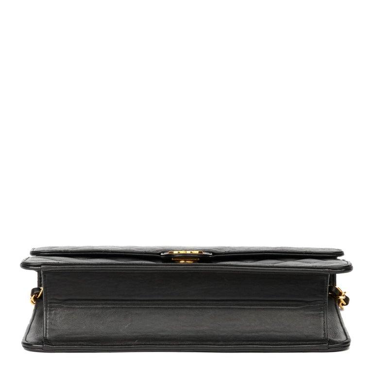 1999 Chanel Black Quilted Lambskin Vintage Medium Classic Single Flap Bag  2