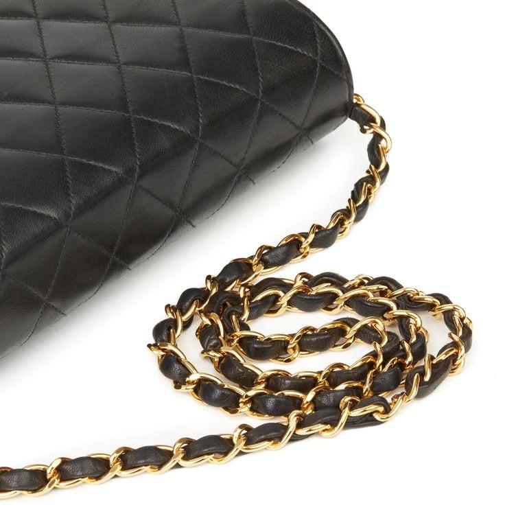 1999 Chanel Black Quilted Lambskin Vintage Medium Classic Single Flap Bag  4
