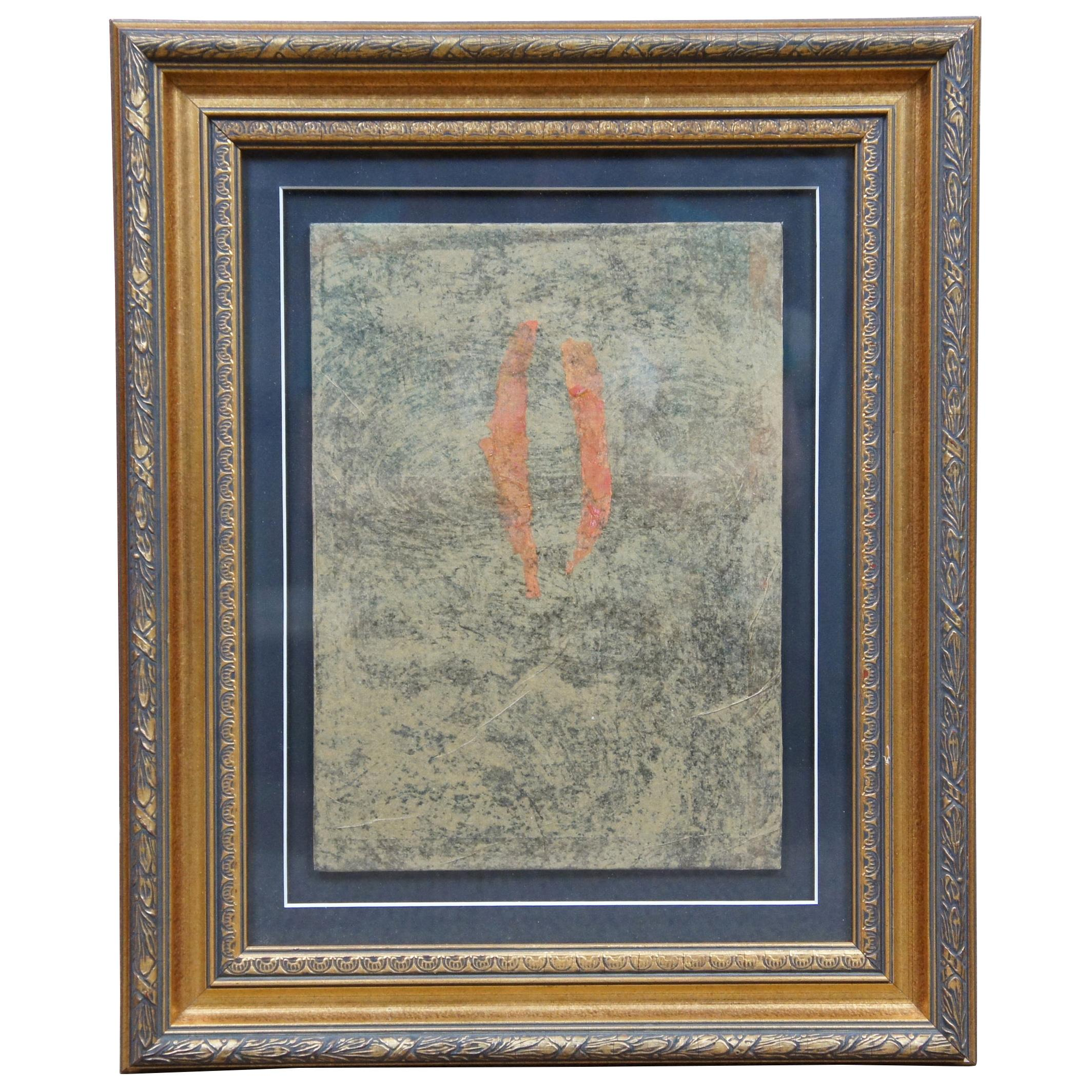 """1999 Jorge Sarsale """"Probable Place"""" Abstract Art Mixed-Media Painting"""