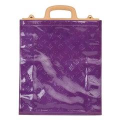 1999 Louis Vuitton Purple Monogram Vernis Leather & Vachetta Vintage Stanton