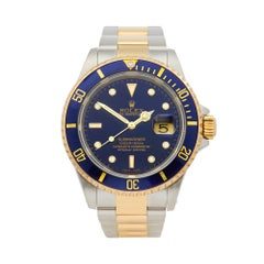 1999 Rolex Submariner Steel and Yellow Gold 16613LB Wristwatch
