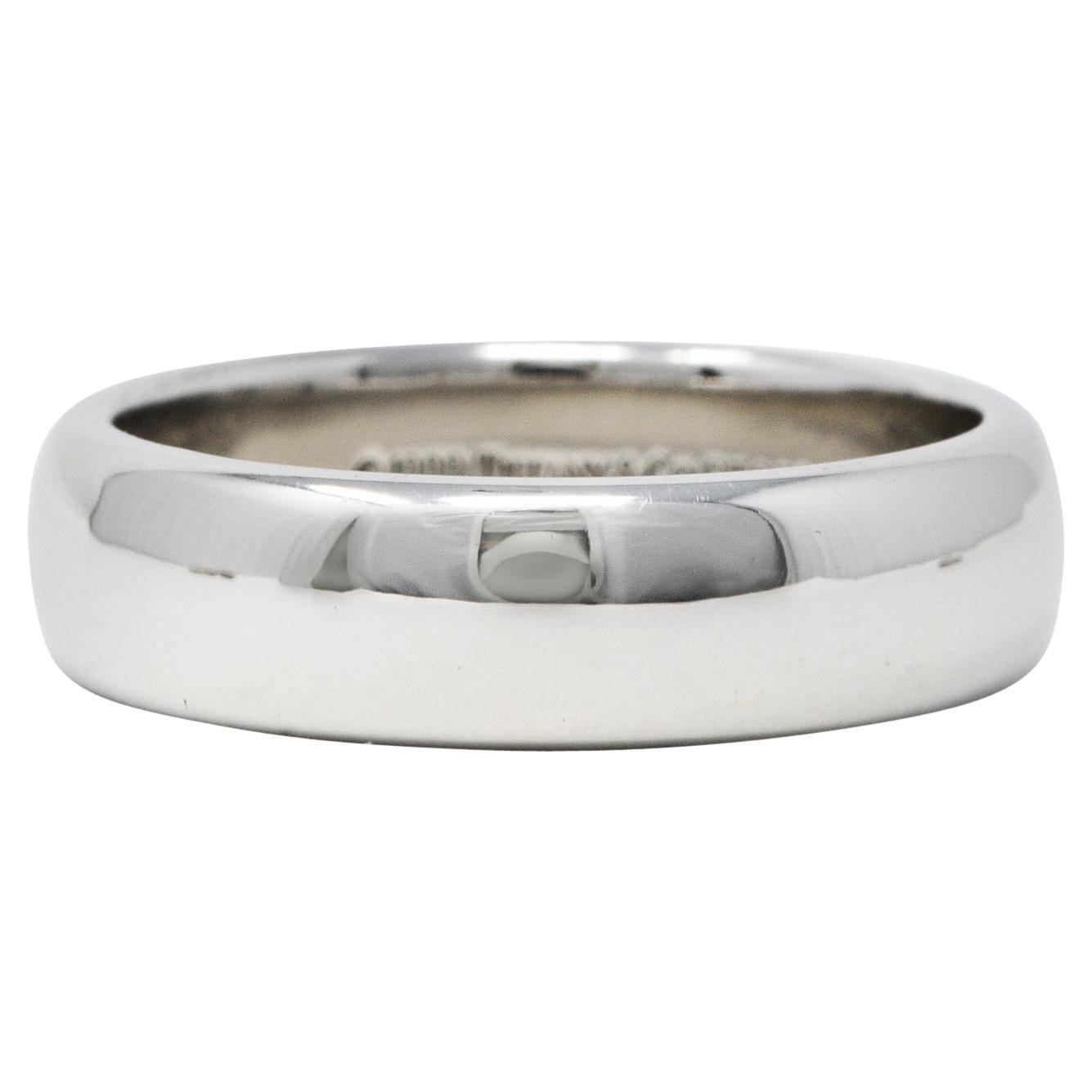 1999 Tiffany & Co. Platinum Men's Wedding Band Ring