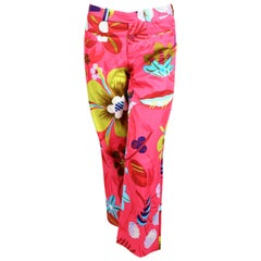 1999 TOM FORD for GUCCI floral printed runway pants