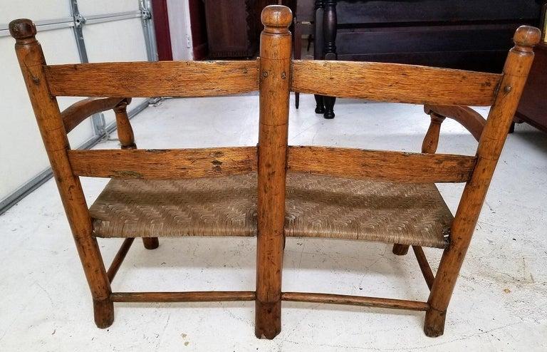 19 Century American Pioneer Walnut Wagon Seat For Sale 4