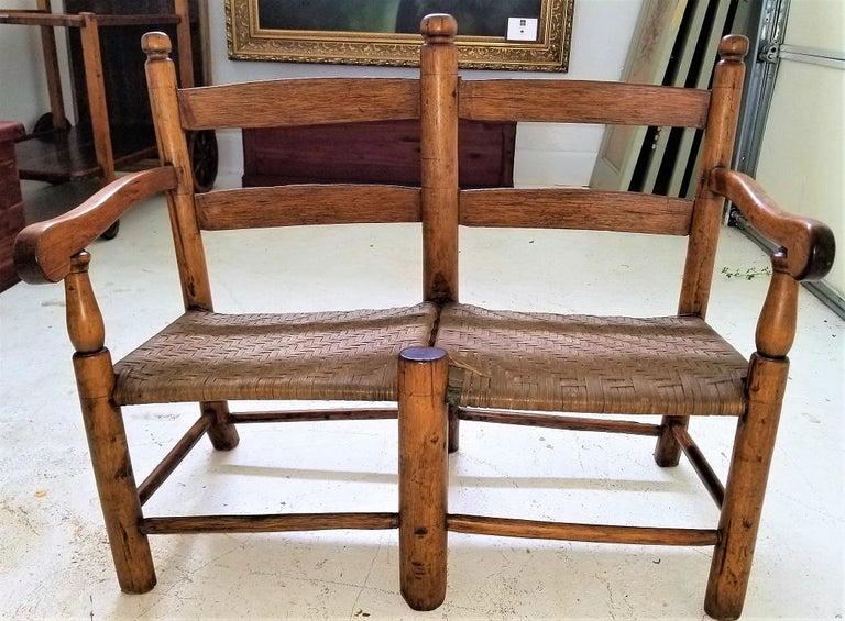19 Century American Pioneer Walnut Wagon Seat For Sale 5