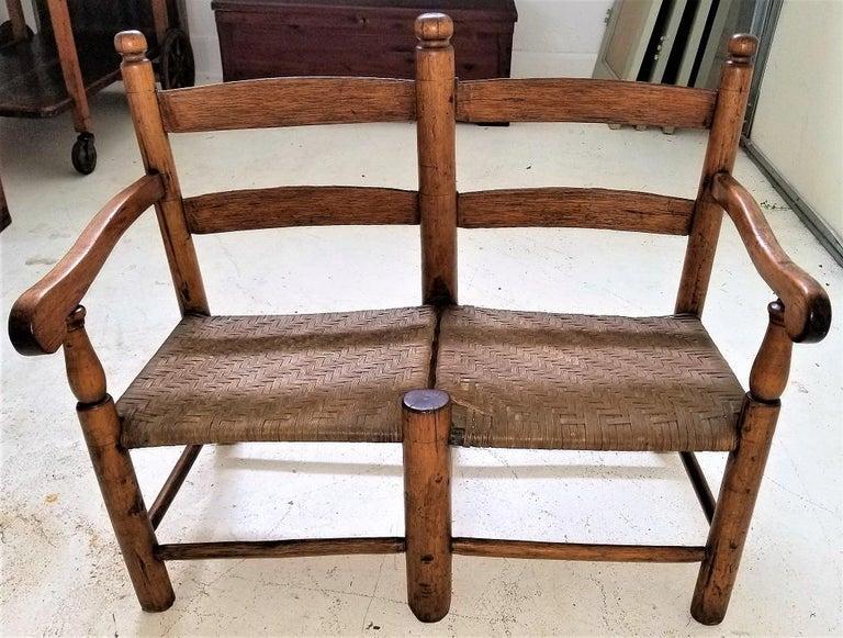 American Classical 19 Century American Pioneer Walnut Wagon Seat For Sale