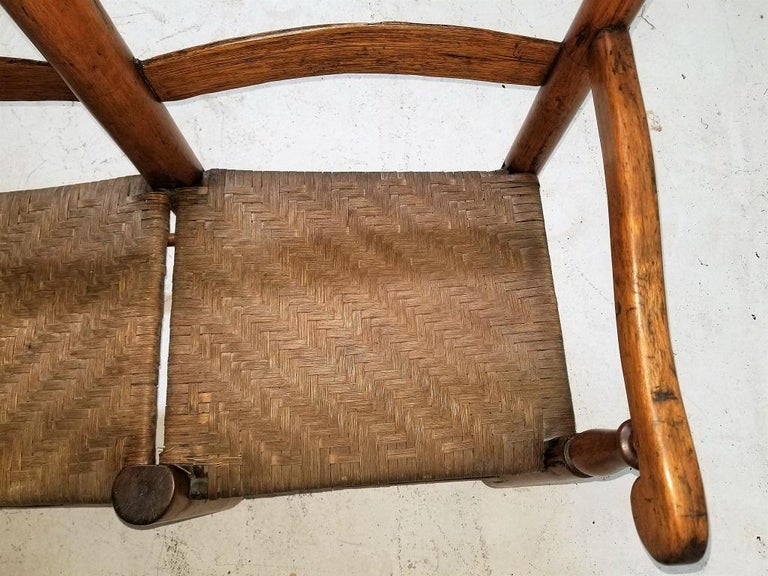 19 Century American Pioneer Walnut Wagon Seat In Good Condition For Sale In Dallas, TX