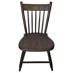 19th Century American Walnut Childs Chair with Provenance