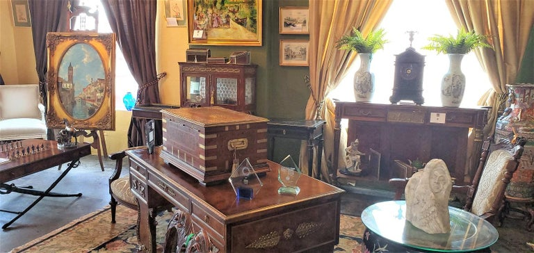 19th Century Anglo Indian Stationery Campaign Chest, Outstanding For Sale 12
