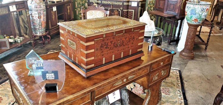 19th Century Anglo Indian Stationery Campaign Chest, Outstanding For Sale 13