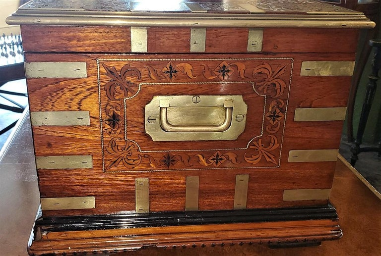 19th Century Anglo Indian Stationery Campaign Chest, Outstanding For Sale 1