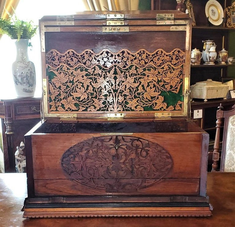 19th Century Anglo Indian Stationery Campaign Chest, Outstanding For Sale 3