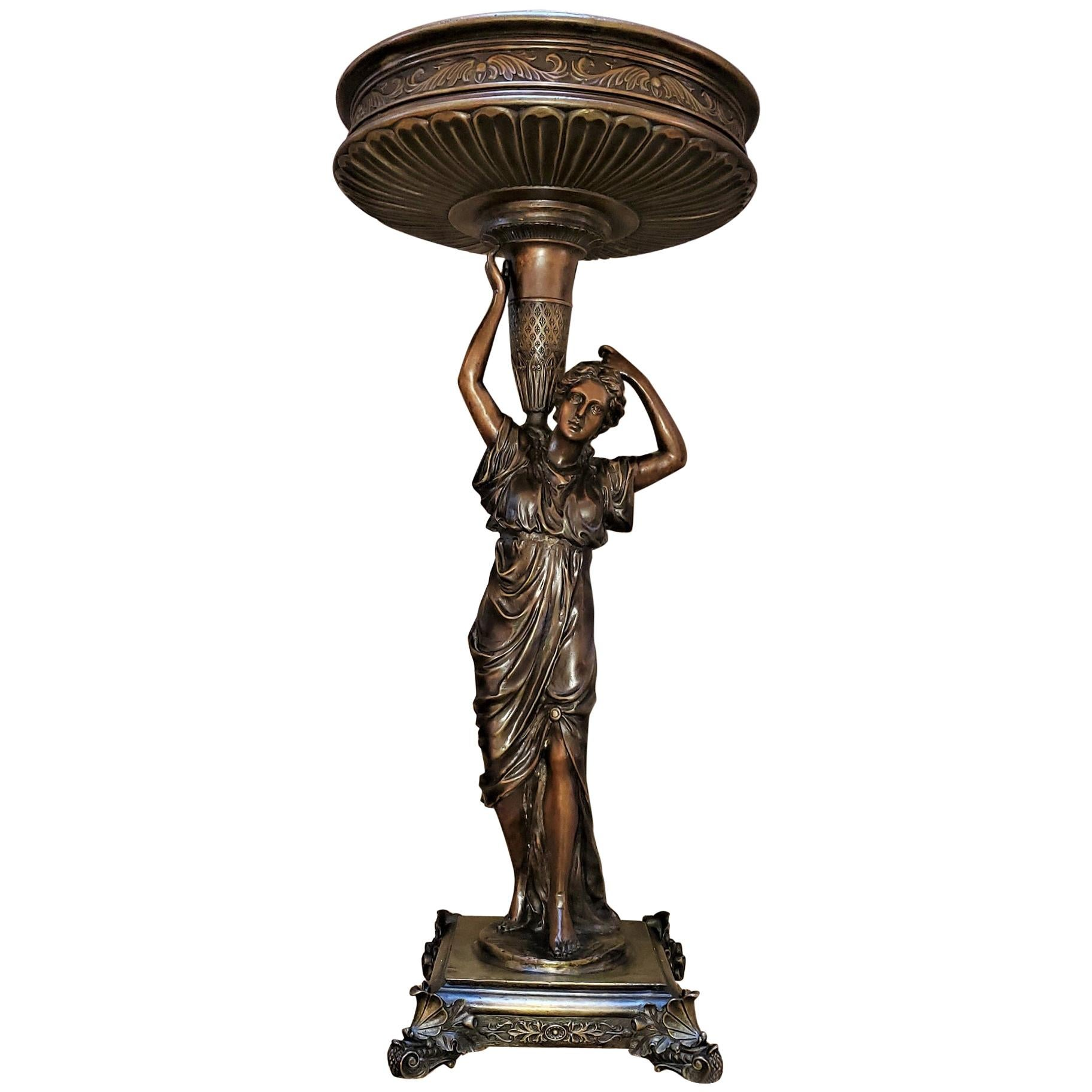 19th Century French Bronze Centerpiece by A Carrier