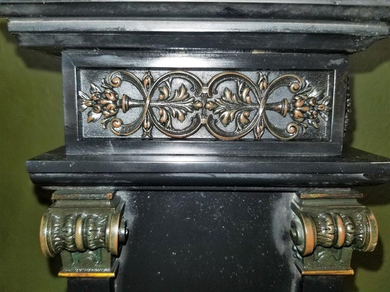 19th Century French Slate & Bronze Clock by Marti For Sale 13