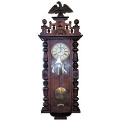 19C Gustav Becker Vienna Wall Clock