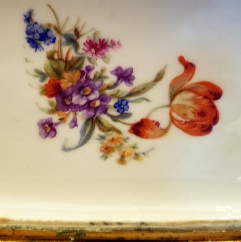 Belle Époque 19C Sevres Porcelain Trinket Box with Ring Tray