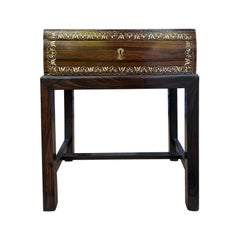 19th-20th Century Anglo-Indian Inlaid Box on Stand