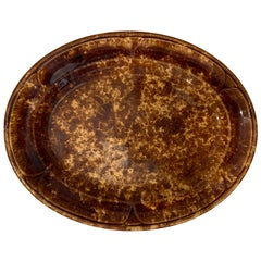 19th-20th Century Bennington Ware Pottery Oval Platter