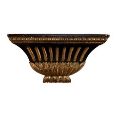 19th-20th Century Black and Gold Wall Bracket