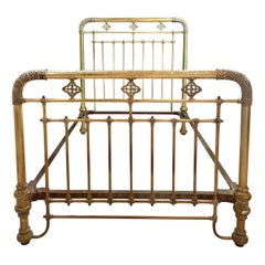 19th-20th Century Brass Bed Frame, Full Sized