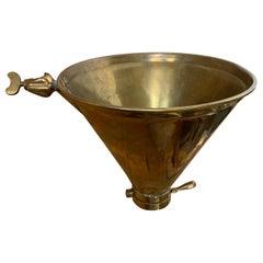 19th-20th Century Brass Funnel