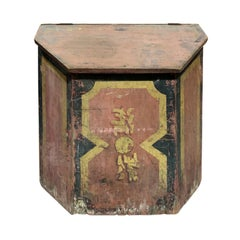 19th-20th Century Chinese Red Painted Tea Box
