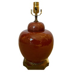 19th-20th Century Chinese Sang de Boeuf Oxblood Ginger Jar as Lamp