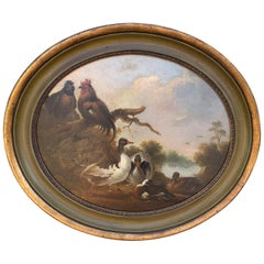 19th-20th Century Continental Oil Painting in Style of John Frederick Herring
