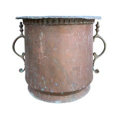 19th-20th Century Copper Cachepot with Handles