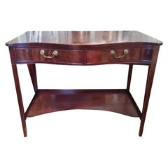 19th-20th Century English Georgian Style Mahogany Server with Two Drawers