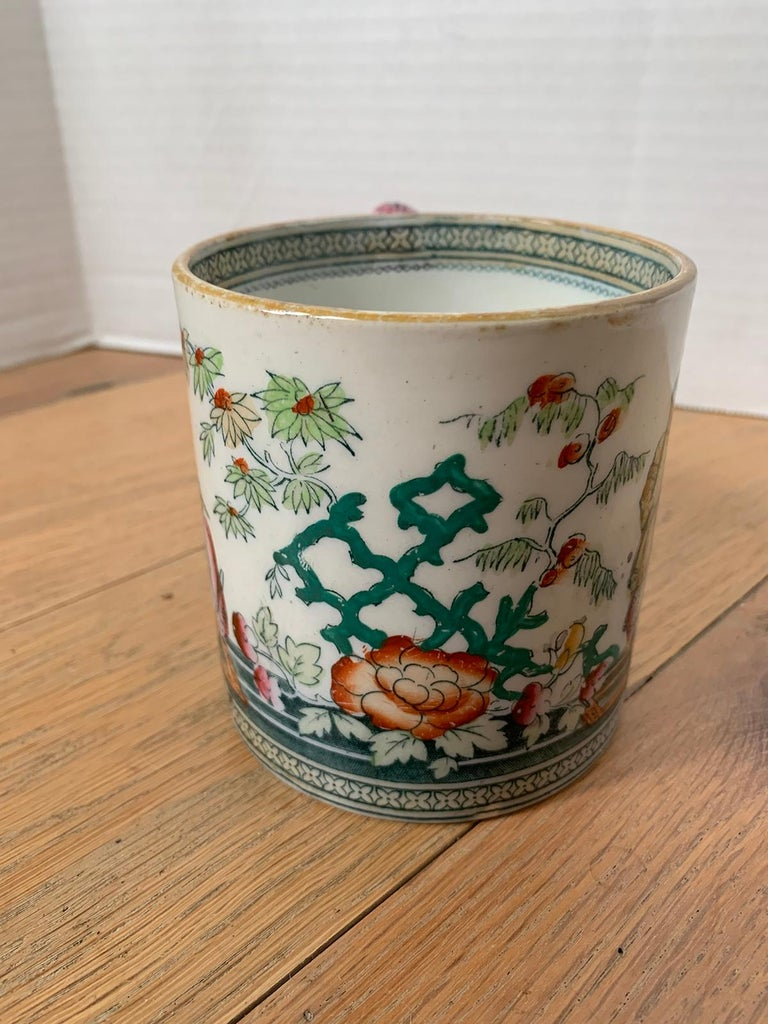 19th-20th Century English Porcelain Mug, Unmarked For Sale 4