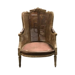 19th-20th Century French Caned Armchair