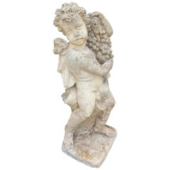 19th-20th Century French Four Seasons Stone Putti Garden Statue