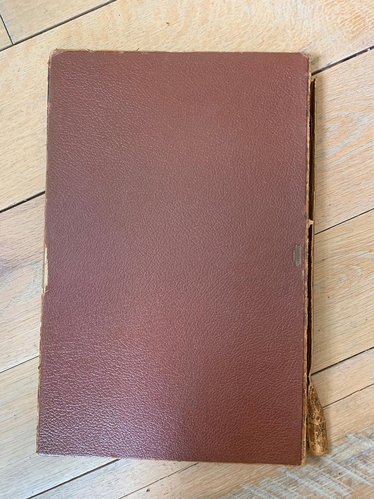 19th-20th Century French Leather Folio For Sale 13