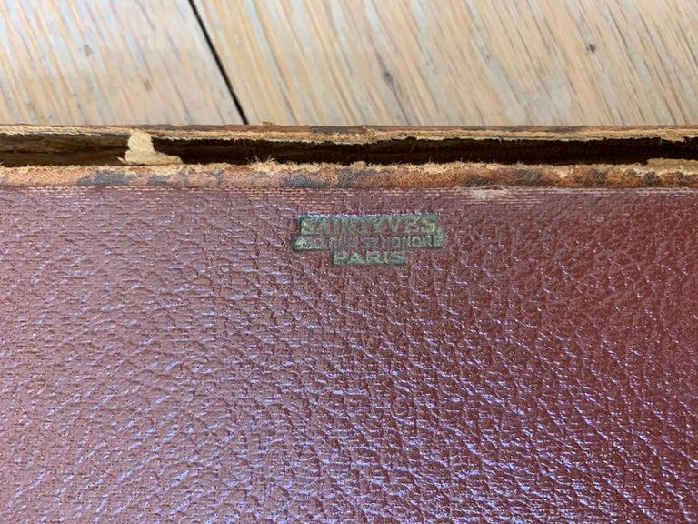 19th-20th century French leather folio.
