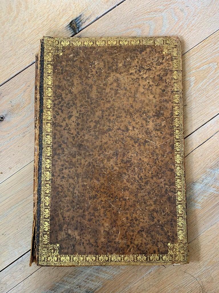 19th-20th Century French Leather Folio In Fair Condition For Sale In Atlanta, GA