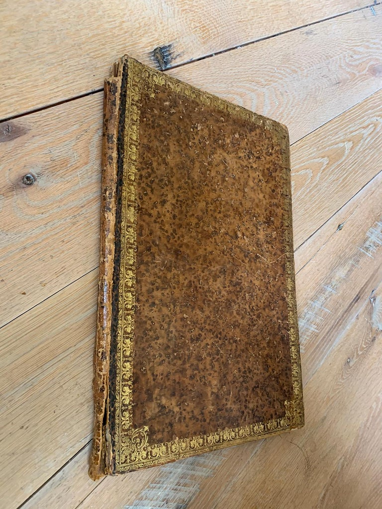 19th Century 19th-20th Century French Leather Folio For Sale